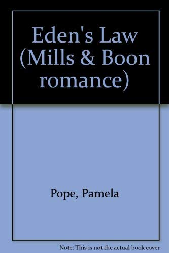 9780263743135: Eden's Law (Mills & Boon romance)