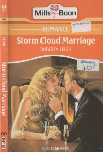 9780263758504: Storm Cloud Marriage