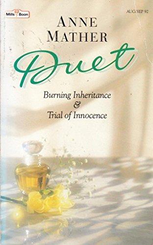 9780263779417: Burning Inheritance