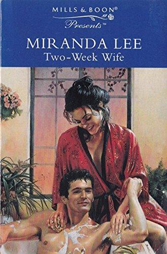 9780263801422: Two-Week Wife (Thorndike Large Print Harlequin Series)