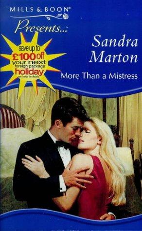 9780263817782: More Than a Mistress