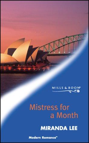 9780263833225: Mistress for a Month (Modern Romance)