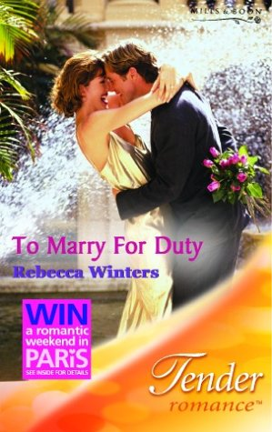9780263842135: To Marry for Duty (Tender Romance)