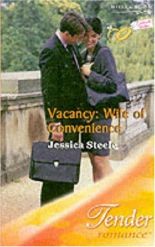 9780263842258: Vacancy: Wife of Convenience (Mills & Boon Romance) (Tender Romance S.)