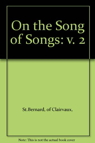 """9780264664002: On the """"Song of Songs"""": v. 2"""