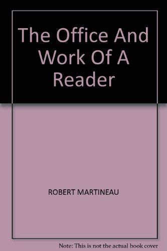 Office and Work of a Reader: Martineau, Robert