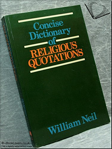 9780264668000: Concise Dictionary of Religious Quotations