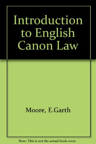 9780264672748: Introduction to English Canon Law