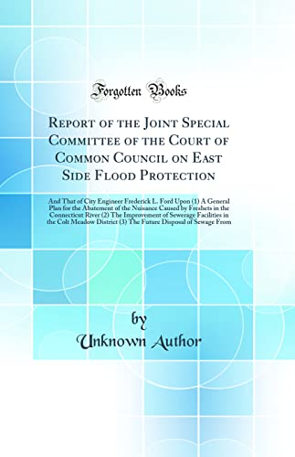 Report of the Joint Special Committee of: Unknown Author