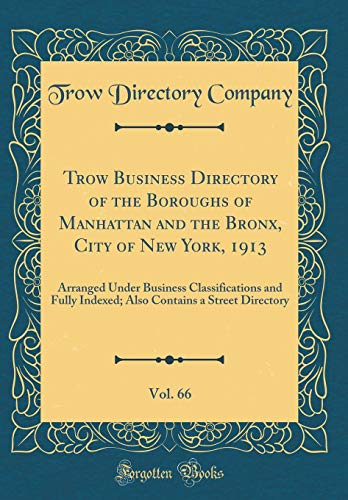 9780266952909: Trow Business Directory of the Boroughs of Manhattan