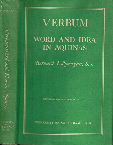 9780268002930: Verbum: Word and Idea in Aquinas