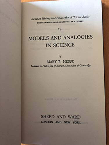9780268003371: Models and Analogies in Science