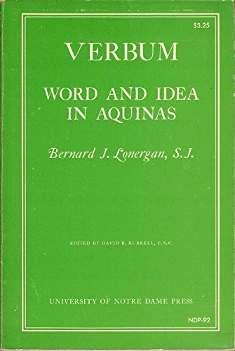 9780268003388: Verbum: Word and Idea in Aquinas