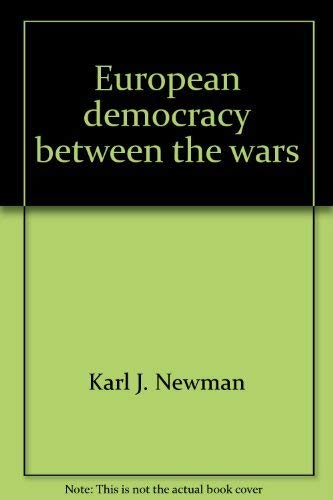 9780268004262: European democracy between the wars