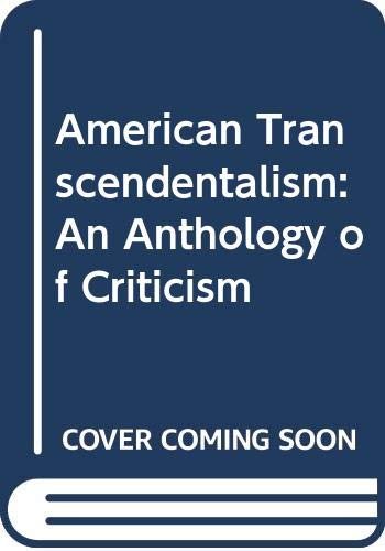 9780268004927: American Transcendentalism: An Anthology of Criticism