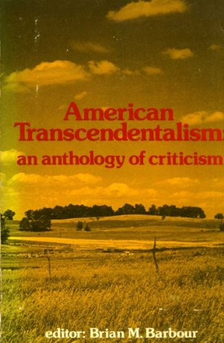 9780268004941: American Transcendentalism; An Anthology of Criticism,