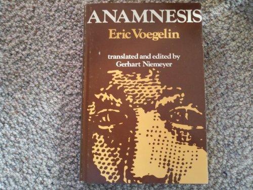 9780268005832: Anamnesis