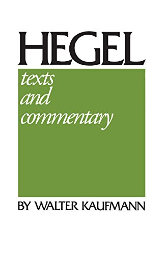 9780268010690: Hegel: Texts and Commentary: A Reinterpretation: Texts & Commentary