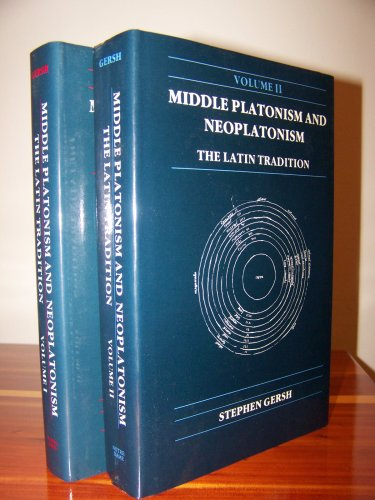 9780268013639: Middle Platonism and Neoplatonism: The Latin Tradition (PUBLICATIONS IN MEDIEVAL STUDIES) (English and Latin Edition)