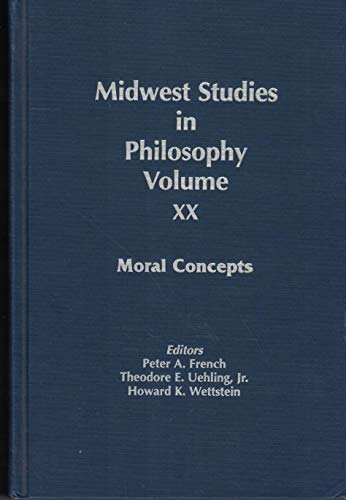 9780268014193: Moral Concepts (Midwest Studies in Philosophy)