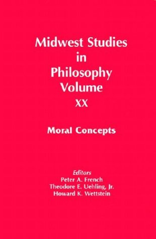 9780268014209: Midwest Studies in Philosophy: Moral Concepts