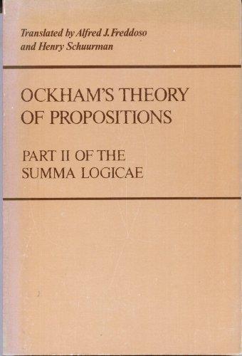 Ockham's Theory of Propositions: Part II of the Summa Logicae: William of Ockham