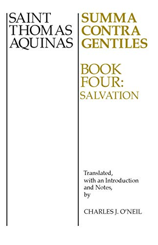 9780268016845: 4: Summa Contra Gentiles: Book Four: Salvation