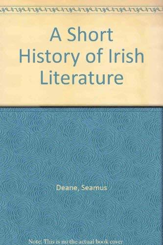 9780268017231: A Short History of Irish Literature