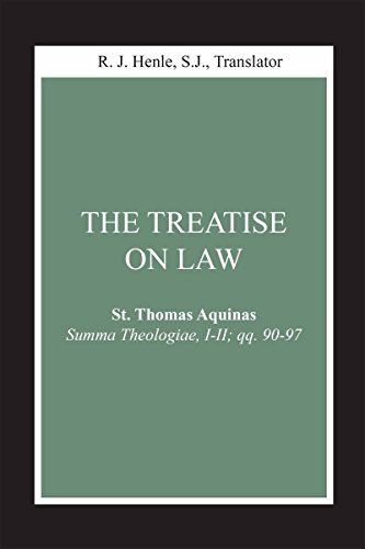9780268018818: The Treatise on Law: (Summa Theologiae, I-II; qq. 90-97) (STUDIES LAW & CONTEM)