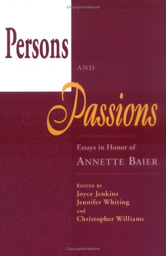 Persons and Passions (Hardback)