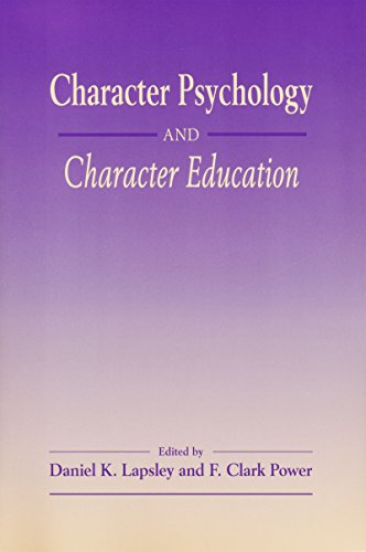 Character Psychology And Character Educa: Lapsley, Daniel K