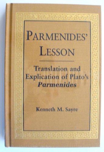 9780268038175: Parmenides' Lesson: Translation of Platos Parmenides