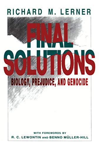 9780271007939: Final Solutions: Biology, Prejudice, and Genocide