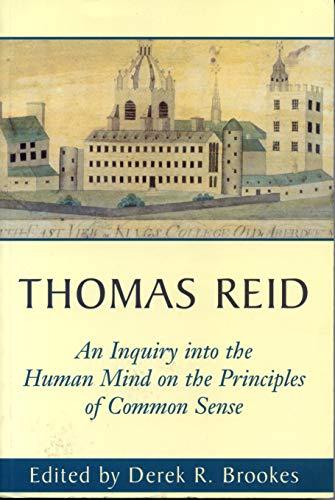 9780271017020: Thomas Reid an Inquiry into the Human Mind: On the Principles of Common Sense : A Critical Edition (Edinburgh Edition of Thomas Reid)