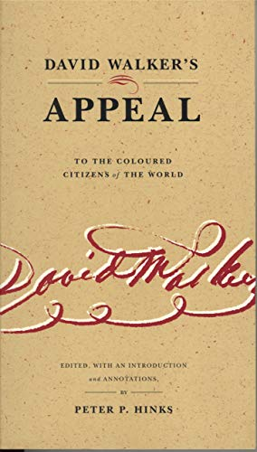 9780271019932: David Walker's Appeal to the Coloured Citizens of the World