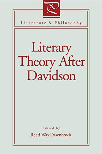 9780271023274: Literary Theory After Davidson (Literature and Philosophy)