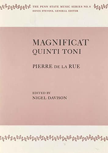 9780271730813: Magnificat Quinti Toni by Pierre de la Rue (The Penn State Music Series)