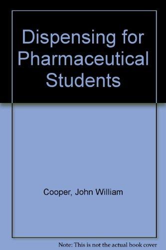 9780272793657: Dispensing for Pharmaceutical Students