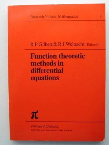 9780273003069: Function Theoretic Methods in Differential Equations (Chapman & Hall/CRC Research Notes in Mathematics Series) (English and German Edition)