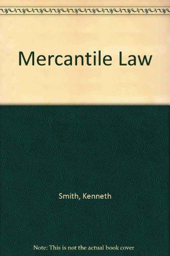 9780273008767: Mercantile Law