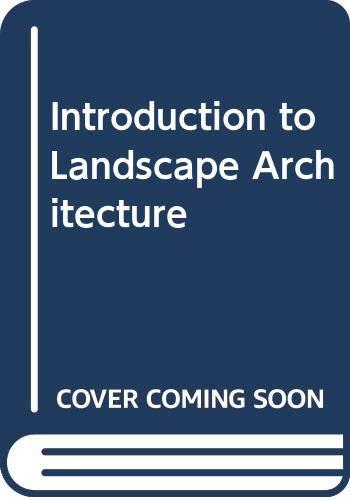 9780273009672: Introduction to Landscape Architecture