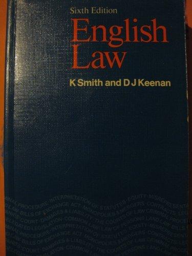 9780273011965: English Law