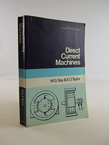 9780273012191: Direct Current Machines