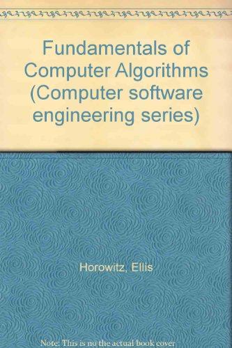 9780273013242: Fundamentals of Computer Algorithms (Computer software engineering series)