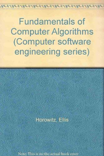 9780273013242: Fundamentals of Computer Algorithms