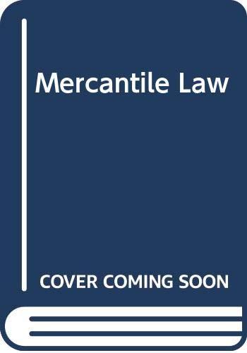 9780273017691: Mercantile Law