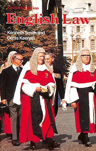 9780273018285: English Law