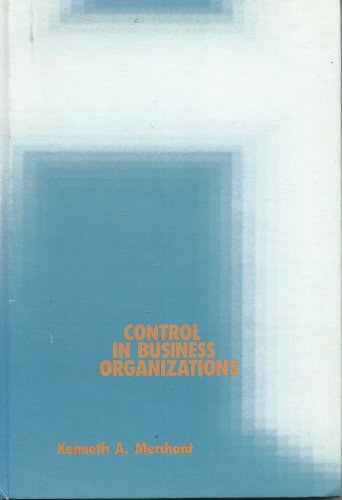 9780273019145: Control in Business Organizations