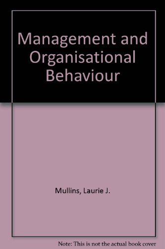 9780273019596: Management and Organisational Behaviour