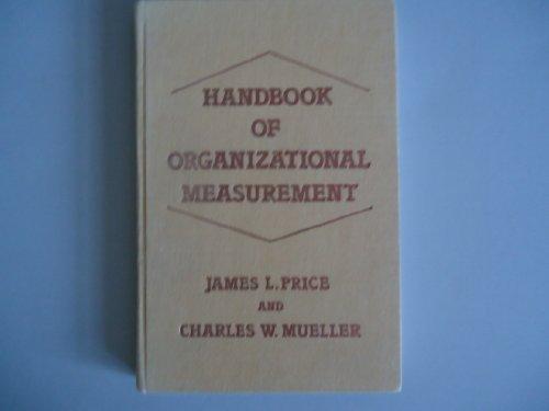 9780273019893: Handbook of Organizational Measurement
